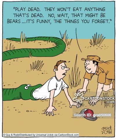Man being eaten by snake